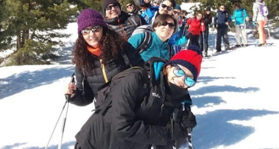 Raquetas nieve senderismo Cristal de Roca