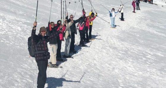 Senderismo con raquetas nieve